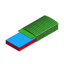 ARMOIRE DE RANGEMENT MATERIEL MOBILE 150X54X97CM - 2 PORTES - 2 ETAGERES