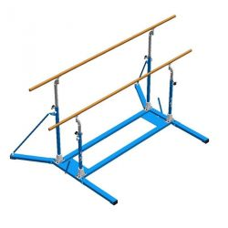 FREE STANDING MIXED BARS WITH FOLDING BASES AND ROLLERS
