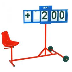 WIND SPEED INDICATOR CART WITH SEAT