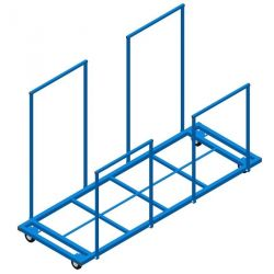 VERTICAL TRANSPORTATION CART  WITH RAILS FOR MATS