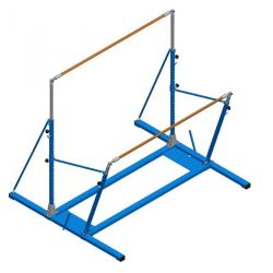 FREE-STANDING UNEVEN BARS  WITH ROLLERS