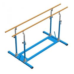 FREE-STANDING PARALLEL BARS  WITH ROLLERS