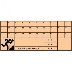 ORIENTEERING CHECK CARDS - SET OF 50